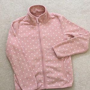 Like New! Uniqlo Fleece Jacket Pink Girls 9/10